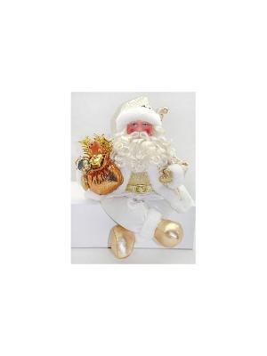 Кукла Дед Мороз 43 см, золото Новогодняя сказка. Цвет: золотистый