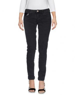 Джинсовые брюки ANNARITA N TWENTY 4H. Цвет: стальной серый