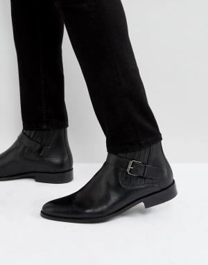 House of Hounds Черные кожаные ботинки с пряжками Adrian. Цвет: черный