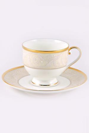 Набор чайных пар 220 мл, 6 шт. Narumi. Цвет: золотой