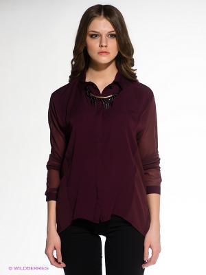 Блузка OBJECT. Цвет: темно-бордовый