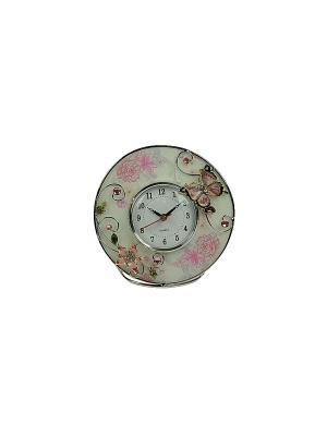 Часы Бабочка Русские подарки. Цвет: серебристый