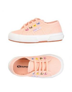 Низкие кеды и кроссовки SUPERGA®. Цвет: лососево-розовый