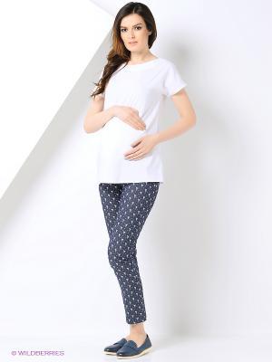 Блузка для беременных 40 недель. Цвет: белый