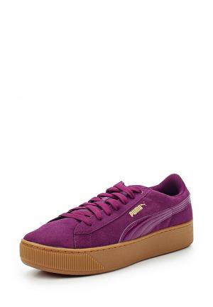 Кеды PUMA. Цвет: фиолетовый