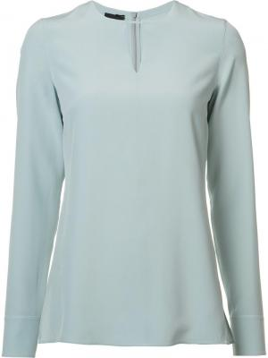 Блузка с длинными рукавами Akris. Цвет: синий