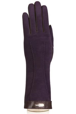 Перчатки Eleganzza. Цвет: коричневый, темно-фио