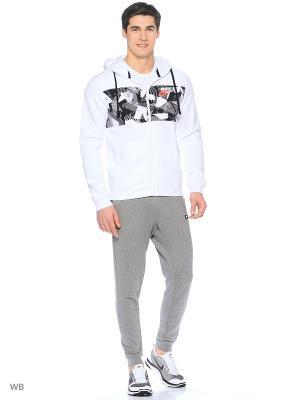 Толстовка M NSW HOODIE FZ FLC SP Nike. Цвет: белый