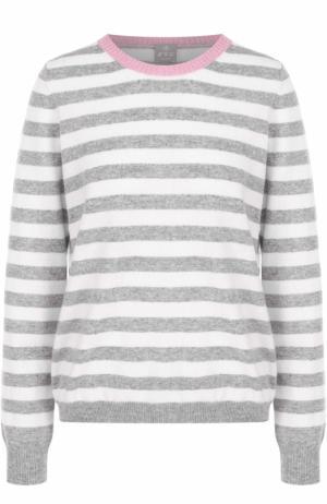 Кашемировый пуловер прямого кроя в полоску FTC. Цвет: серый
