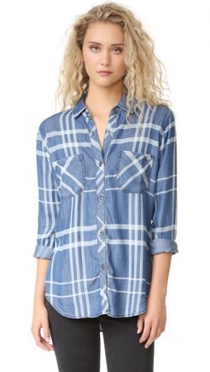 Рубашка на пуговицах Carter RAILS. Цвет: голубой