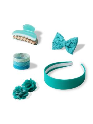 Комплект аксессуаров для волос SHINY AZURE ESLI. Цвет: бирюзовый