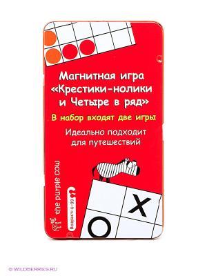 Магнитная настольная игра Крестики-нолики и Четыре в ряд. THE PURPLE COW. Цвет: красный, белый