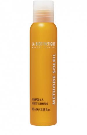 Шампунь для поврежденных солнцем волос La Biosthetique. Цвет: бесцветный