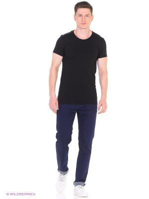 Футболка James, slim fit Alan Red. Цвет: черный