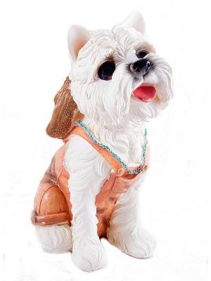 Копилка Собачка Русские подарки. Цвет: коричневый, белый