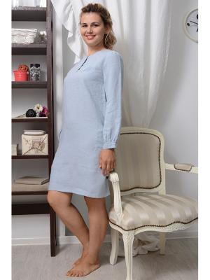 Ночная сорочка LINO RUSSO. Цвет: голубой