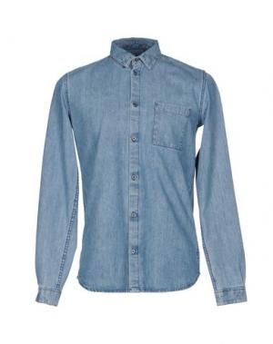 Джинсовая рубашка DR. DENIM JEANSMAKERS. Цвет: синий