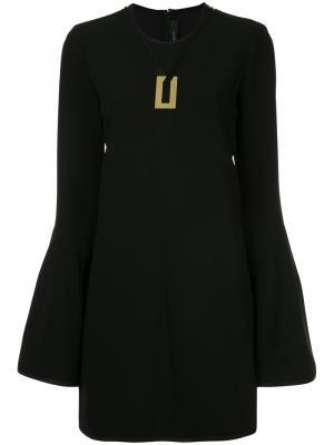Платье мини Preacher Ellery. Цвет: чёрный