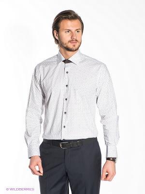 Рубашка Donatto. Цвет: белый, серый