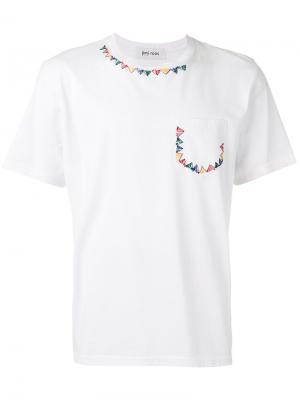 Embroidered bunting T-shirt Jimi Roos. Цвет: белый