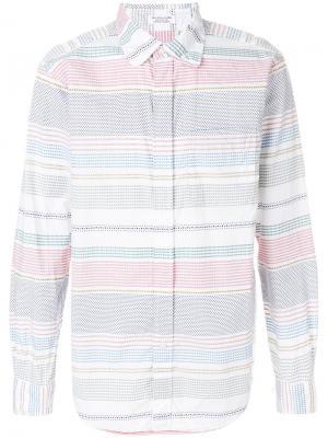Рубашка в полоску Dobby Engineered Garments. Цвет: многоцветный