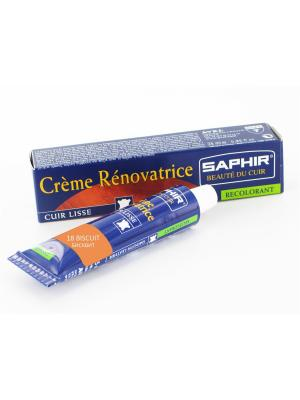 Восстановитель кожи Creme RENOVATRICE, 25 мл. (жидкая кожа)(18 бисквит ) Saphir. Цвет: светло-оранжевый