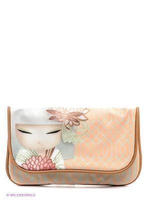 Универсальный кошелек Казуми Kimmidoll. Цвет: персиковый, светло-серый, молочный