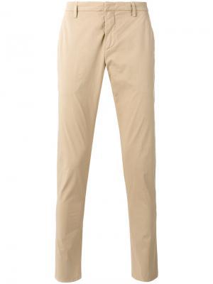 Зауженные брюки Dondup. Цвет: телесный