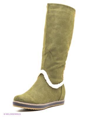 Сапоги Yaro. Цвет: зеленый, серо-зеленый