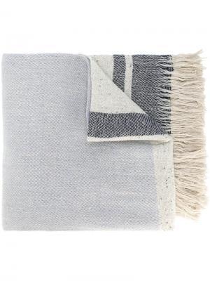 Тканый шарф в полоску Forte. Цвет: телесный
