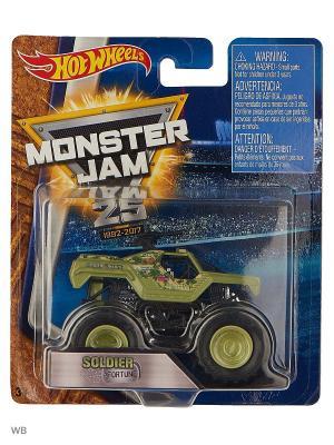 Машинки серии Monster Jam Hot Wheels. Цвет: серо-зеленый, светло-зеленый