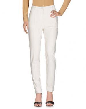 Повседневные брюки KORALLINE. Цвет: слоновая кость