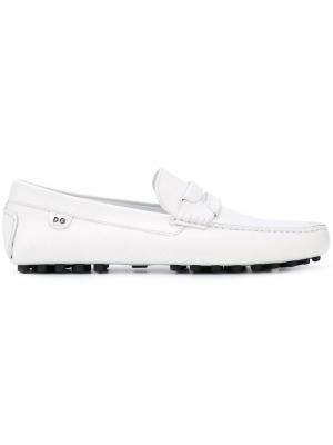 Классические лоферы Dolce & Gabbana. Цвет: белый