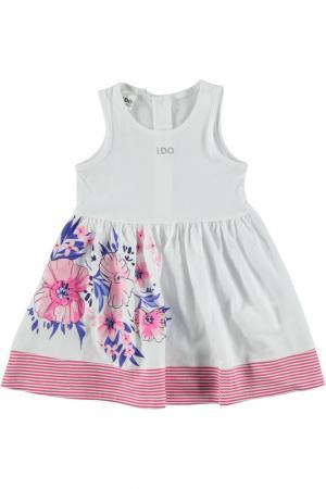 Платье IDO. Цвет: белый