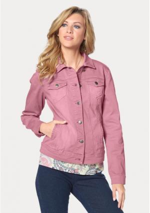 Джинсовая куртка CHEER. Цвет: темно-розовый