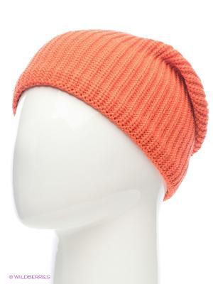 Шапка BUFF KNITTED HATS DRIP ORANGE. Цвет: оранжевый