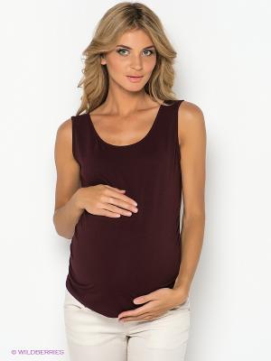 Топ для беременных ФЭСТ. Цвет: бордовый