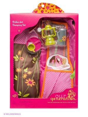 Походный набор для куклы OG Dolls. Цвет: розовый, коричневый