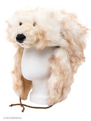 Шапка True Fur. Цвет: светло-коричневый, молочный