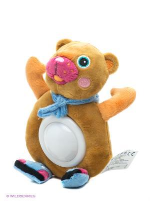 Игрушка-ночник Медвежонок Oops. Цвет: горчичный