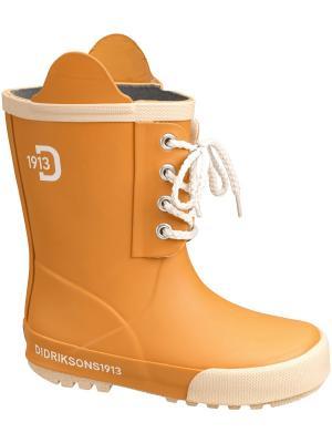 Резиновые сапоги DIDRIKSONS. Цвет: оранжевый