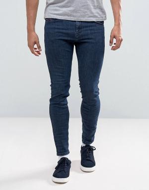 Diesel Темные выбеленные джинсы скинни Stickker 683K. Цвет: синий