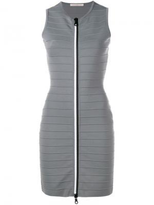 Платье без рукавов Christopher Kane. Цвет: серый