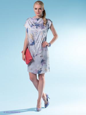 Платье 18CRR81 CERRUTI. Цвет: светло-серый, синий