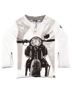Лонгслив Old School Chopper Henley Mini Shatsu. Цвет: белый
