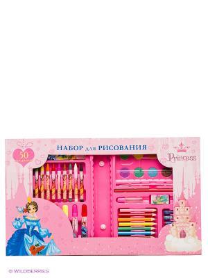 Набор для рисования Принцесса и замок Канц-Эксмо. Цвет: розовый