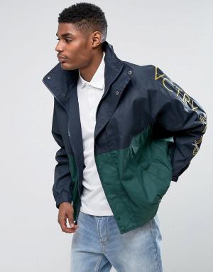 10 Deep Спортивная куртка с принтом на рукавах 10.Deep Victory. Цвет: темно-синий