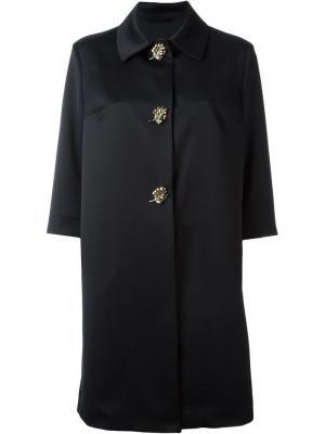 Декорированное пальто Ermanno Scervino. Цвет: чёрный
