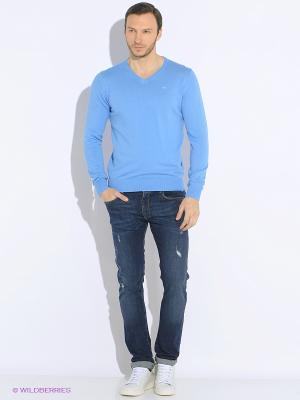 Пуловер Men of all nations. Цвет: голубой