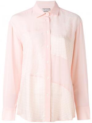 Рубашка лоскутного кроя Paul & Joe. Цвет: телесный